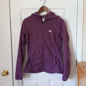 North face zipup sweater with hood